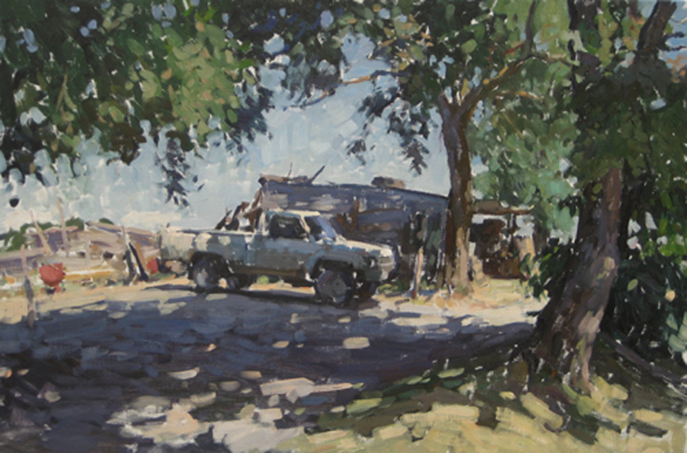 Gaspars Pickup 20 x 30 in, oil on canvas