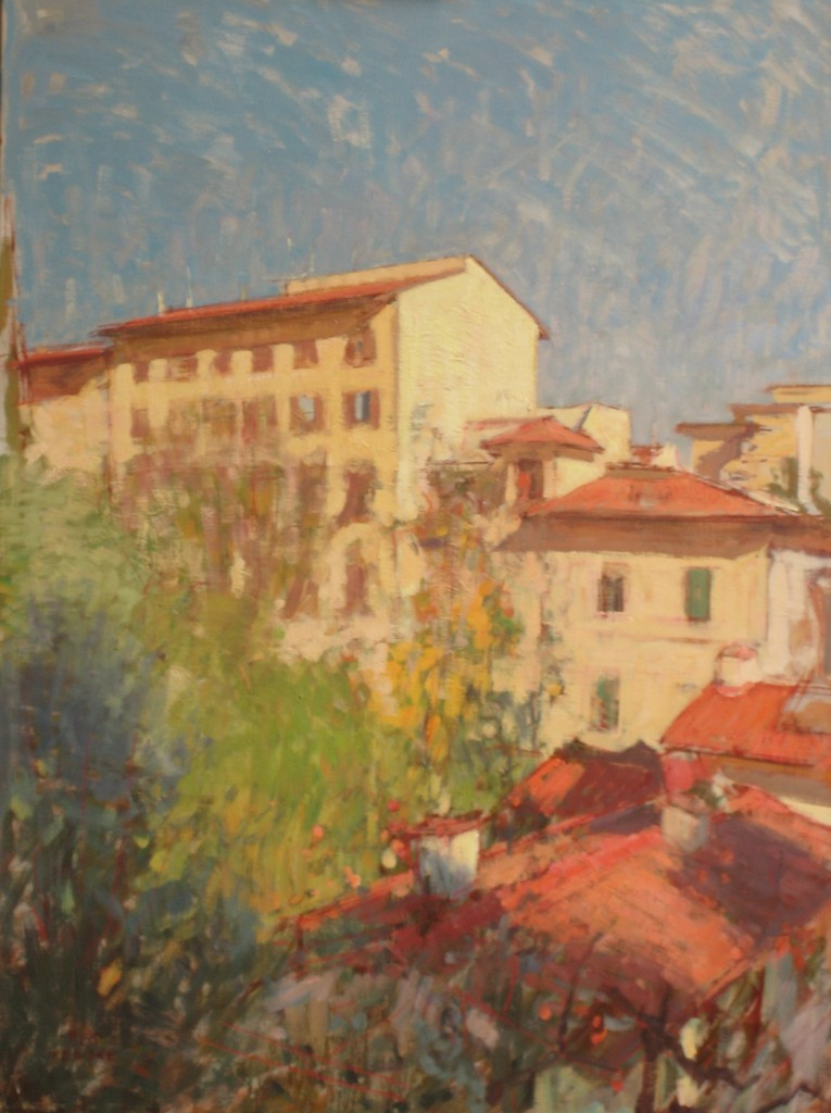 Florence from the window  110x80cm,  oil on canvas